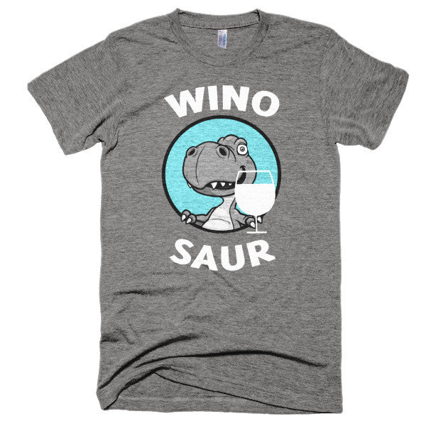 Winosaur wine lover short sleeve soft, vintge style, t-shirt