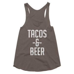 Tacos and Beer racerback tank