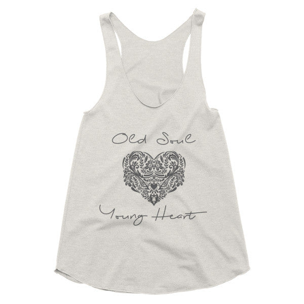 Old Soul Young Heart Boho racerback tank