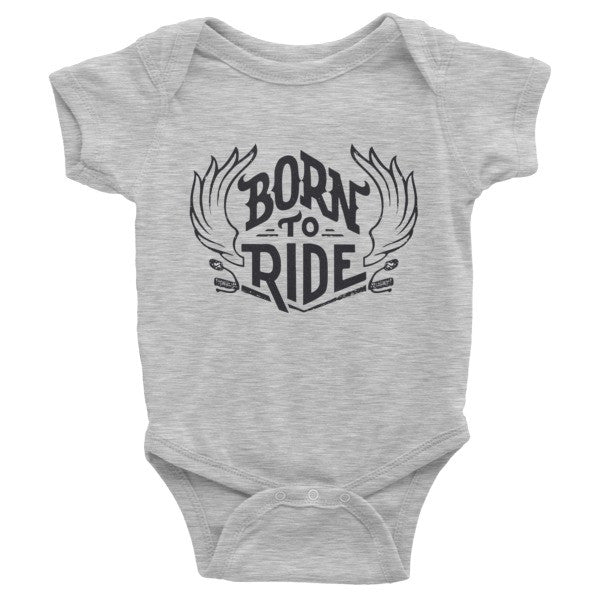 Born to ride Infant short sleeve one-piece, onesie
