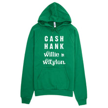 Cash Hank Willie and Waylon Country Music Hoodie