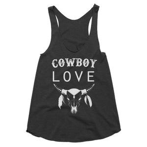 Cowboy love, country girl, racerback tank