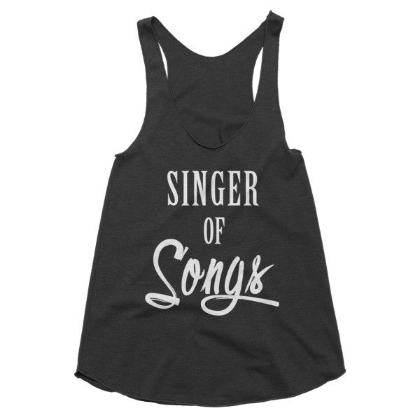 Singer of Songs racerback tank