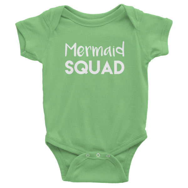 Mermaid Squad Infant short sleeve one-piece, onesie