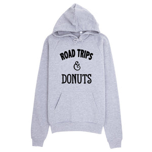 Road Trips and Donuts Hoodie