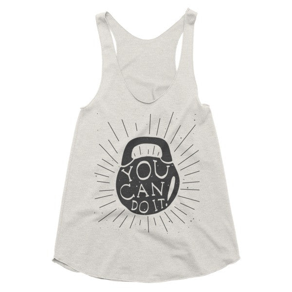 You Can Do It Kettlebell, Vintage style Workout racerback tank
