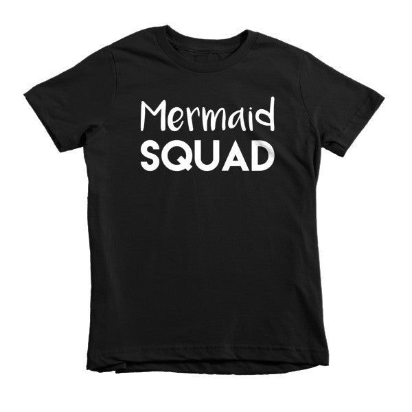 Mermaid Squad Short sleeve kids t-shirt