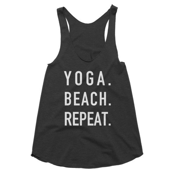 Yoga Beach Repeat racerback tank