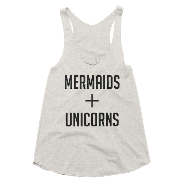 Mermaids + Unicorns racerback tank