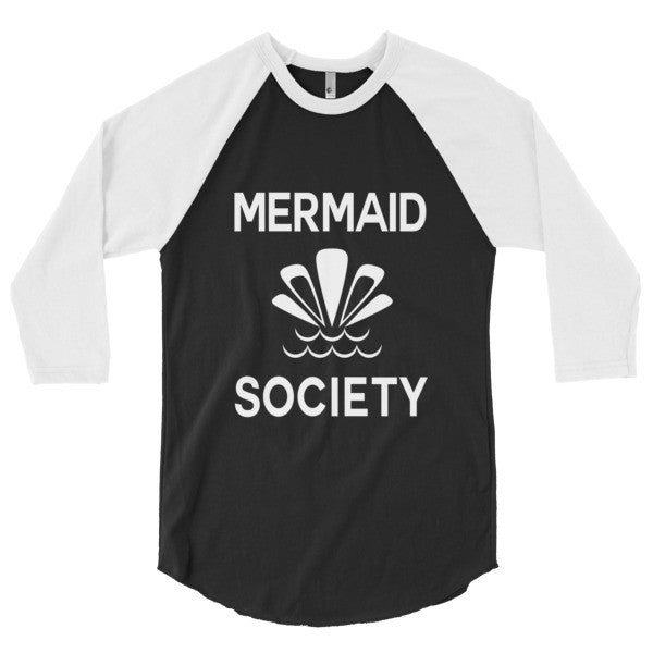 Mermaid Society 3/4 sleeve raglan shirt