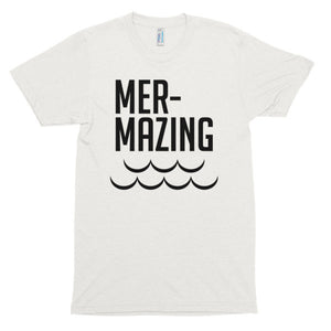 Mer-Mazing, mermiad, Short sleeve soft t-shirt
