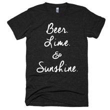 Beer Lime and Sunshine Short sleeve soft t-shirt