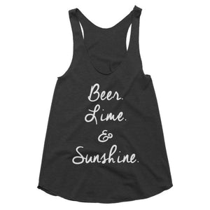 Beer Lime and Sunshine racerback tank