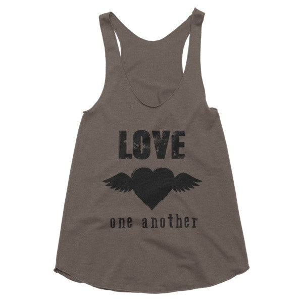 Love one another boho racerback tank