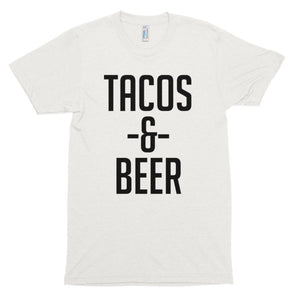 Tacos and  Beer Short sleeve soft t-shirt