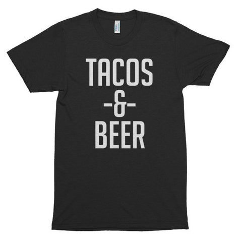 Tacos and Beer, unisex, Short sleeve soft t-shirt