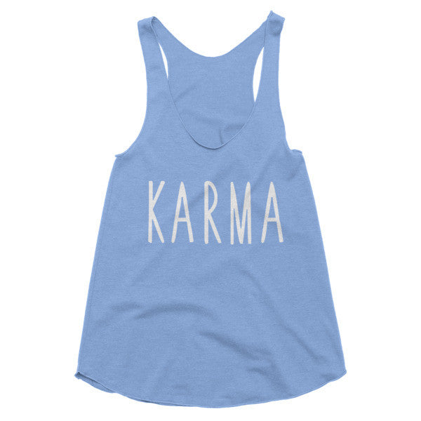 Karma yoga, workout, racerback tank