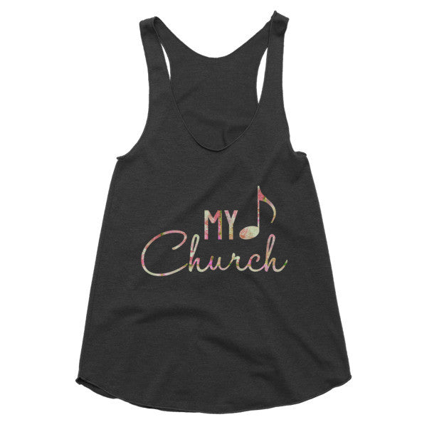 My Church Floral Vintage feel Racerback tank