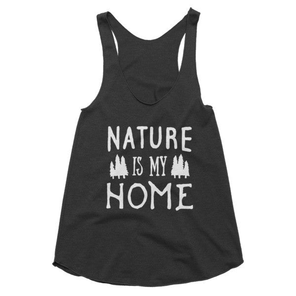 Nature is my home camping racerback tank
