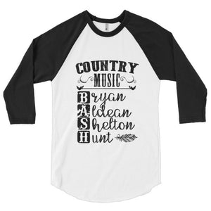 Country Music Bash, festival style, 3/4 sleeve raglan shirt