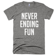 Never ending fun, unisex, Short sleeve soft t-shirt