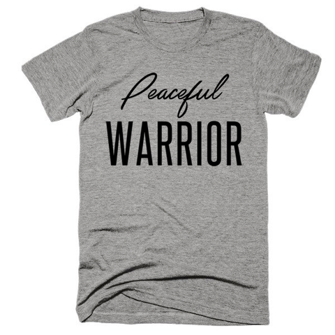 Peaceful Warrior, Unisex, Short sleeve, super, soft t-shirt