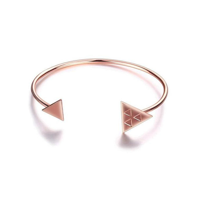 Rose Gold Color Triangle Cuff