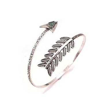 Silver Arrow Boho Arm Cuff