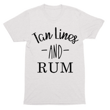 Tan Lines and Rum, super soft, unisex, t-shirt