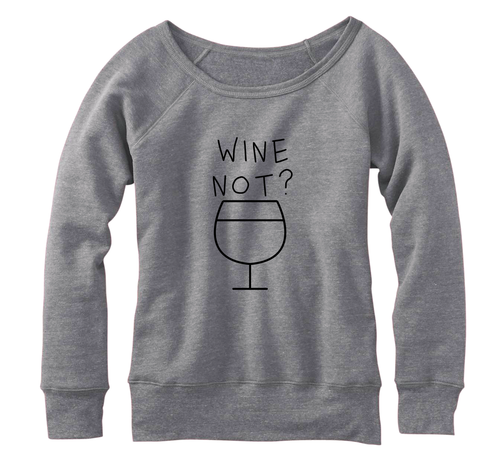 Wine not? Fleece, Wideneck Pullover