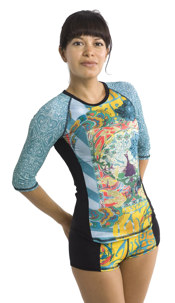 Half Sleeve Rash Guard- Zen Garden