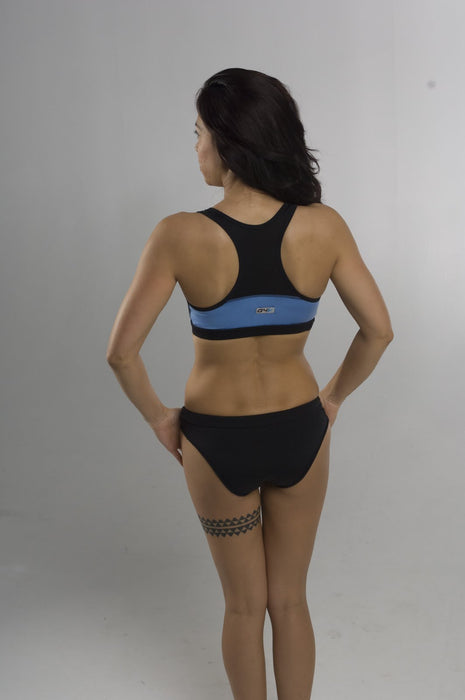 SupraDry Sports Bra - Black/Blue