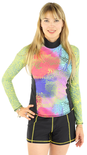 Girls4sport - Long Sleeve Top - Abstrakt
