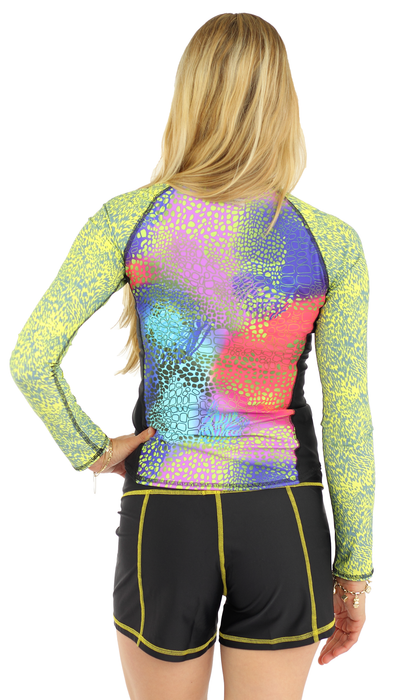 Long Sleeve Rash Guard- Abstrakt