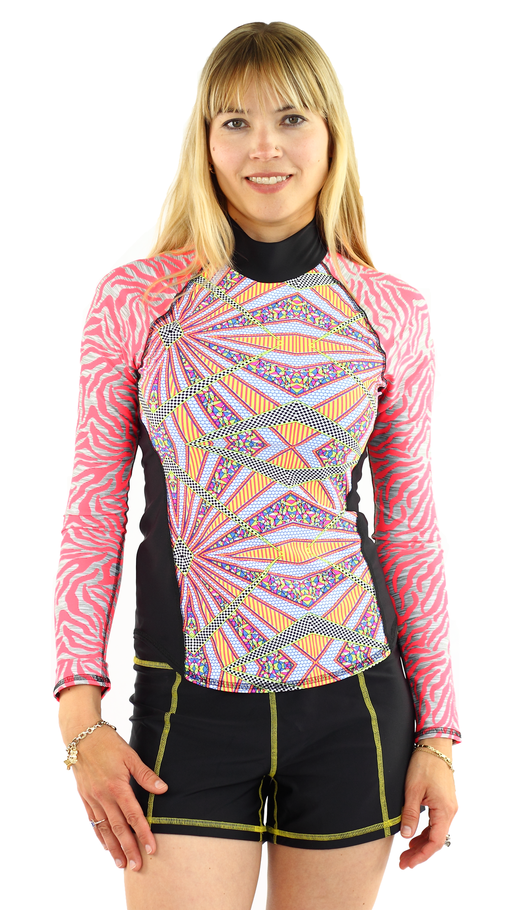 Long Sleeve Rash Guard - Burst