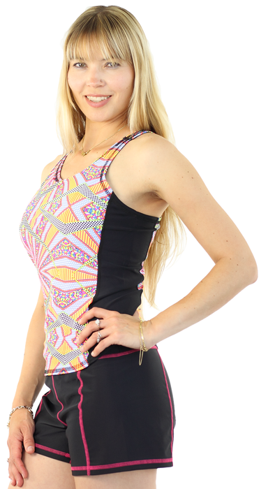 Sports Tank Rash Guard - Burst