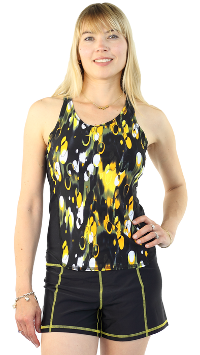Sports Tank Rash Guard- Cosmos