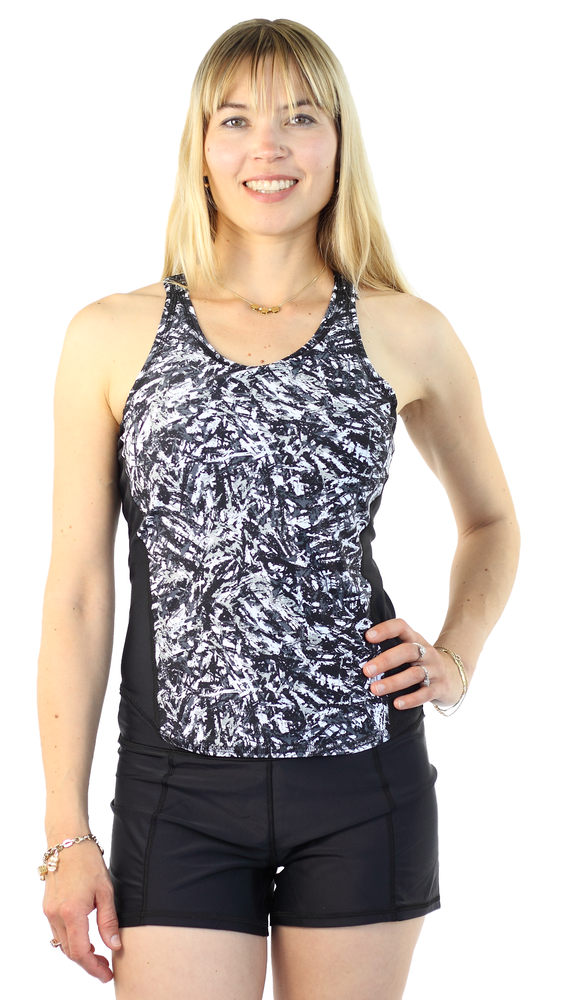Sports Tank Rash Guard- Night By Day