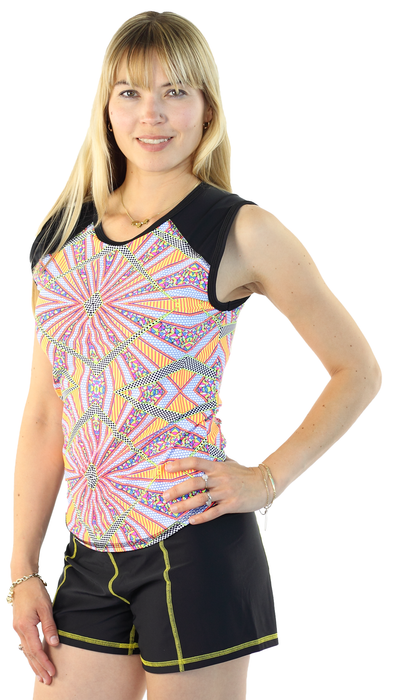 Sleeveless Rash Guard - Burst