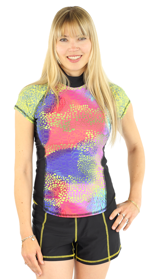 Short Sleeve Rash Guard - Abstrakt