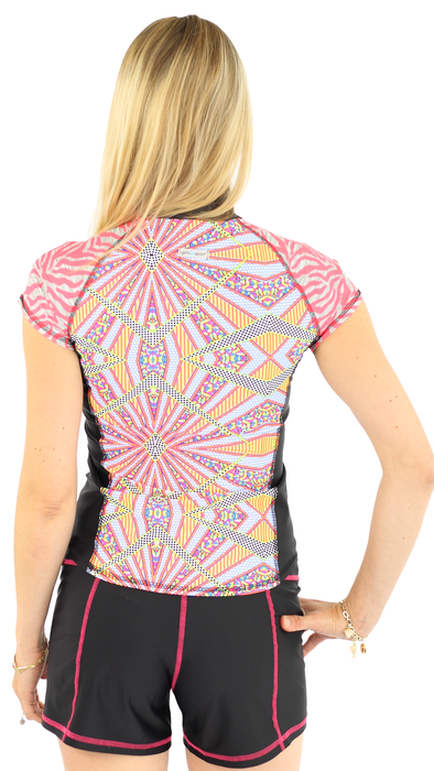 Short Sleeve Rash Guard - Burst