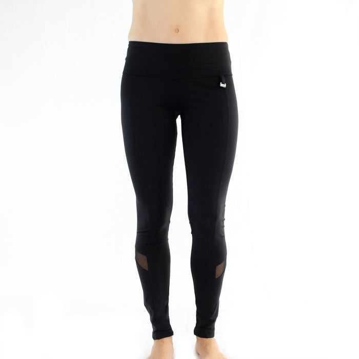 Zipper Legging With Mesh