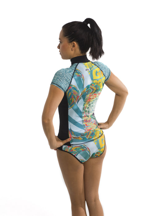 Short Sleeve Rash Guard - Zen Garden