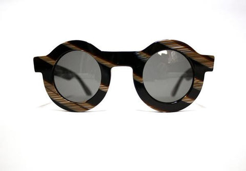 Black Horn Circle Sunglasses || Dusen Dusen