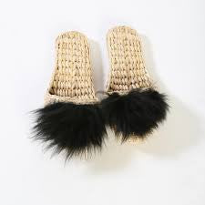 Handwoven Slippers with Lamb Wool || Folk Fortune