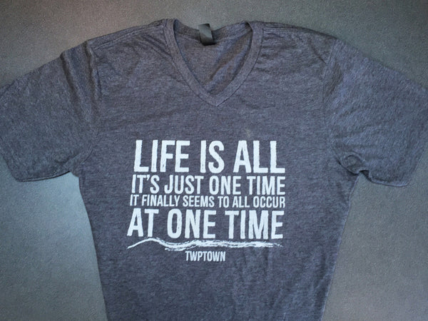 """Life is All"" T-Shirt (Unisex Charcoal)"