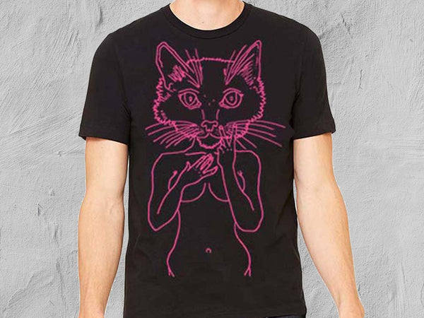 Pink Pussy Men's Fitted Short-Sleeved T-Shirt