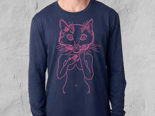 Pink Pussy Men's Fit Long-Sleeved T-Shirt