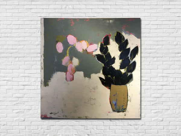 """Pink Tulips"" Original Painting by Provincetown Artist TJ Walton"