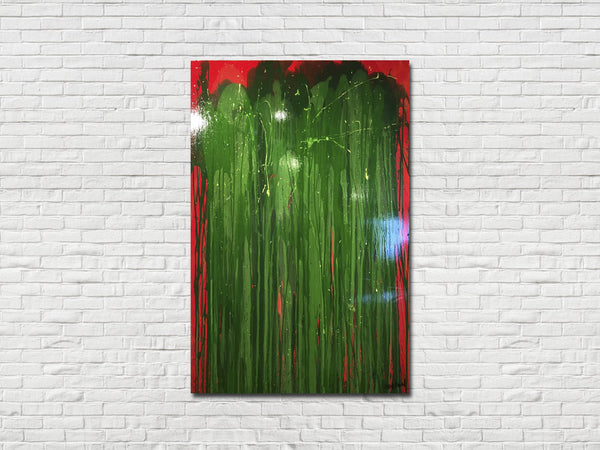 """Red and Green Jellyfish,"" Art by TJ Walton"